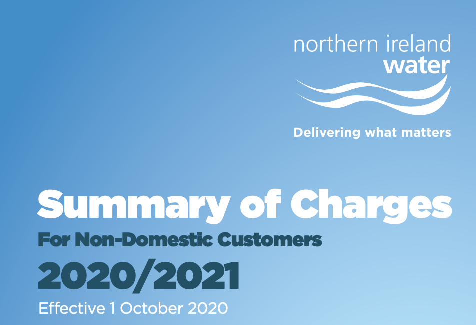 NI Water Summary of Charges
