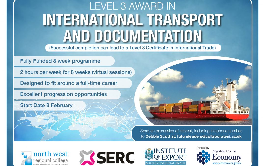 COLLEGES HELP NAVIGATE BREXIT WITH INTERNATIONAL TRANSPORT AND DOCUMENTATION