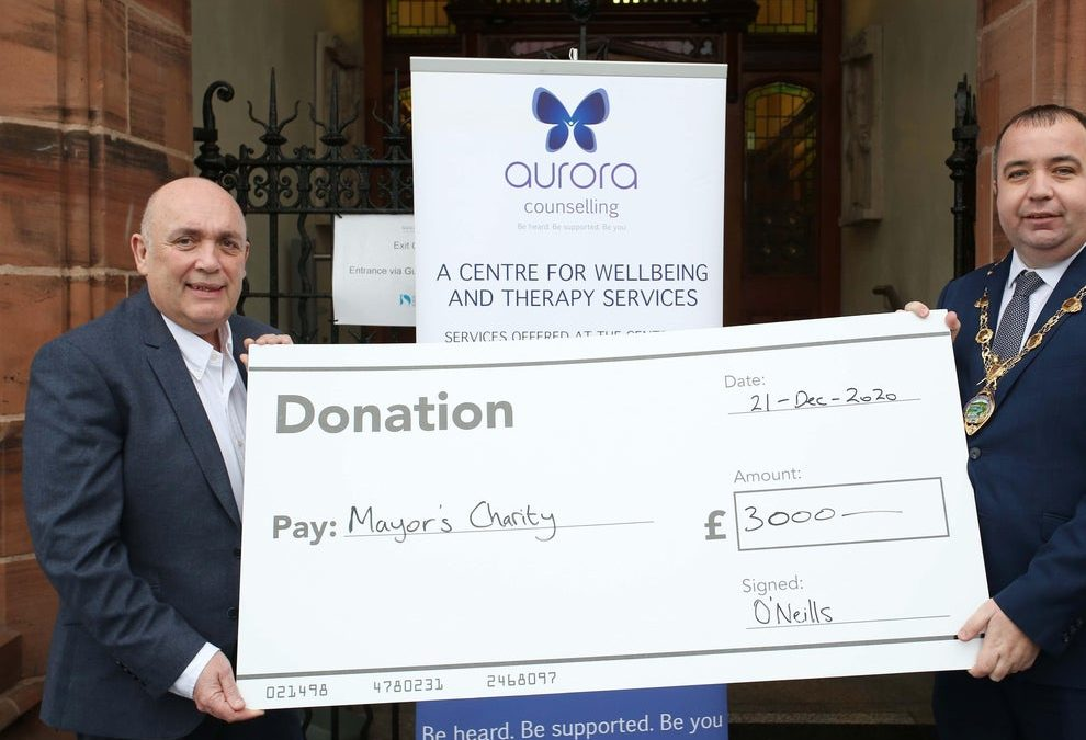 O'Neills' in £30,000 donation to 17 north west charities